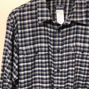 Patagonia Shirt Check Plaid Size L Cotton Blend